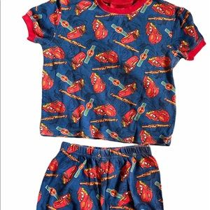 ✨3 for $30✨Lightning McQueen 4T Boys Shorts Pajama